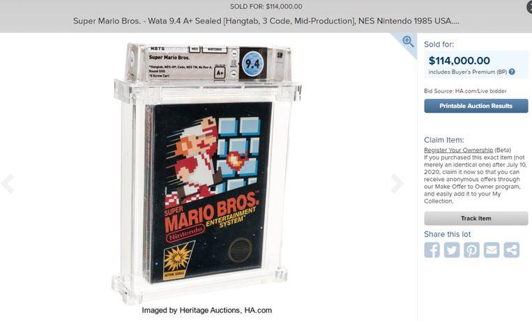 De bewuste cassette zit nog in de beschermingsverpakking.
