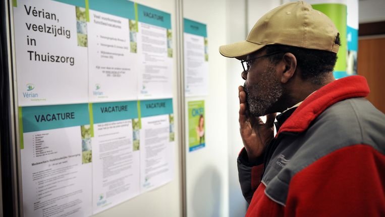 Werkloosheid (de afgebeelde man komt niet voor in het artikel). Beeld Marcel van den Bergh / de Volkskrant