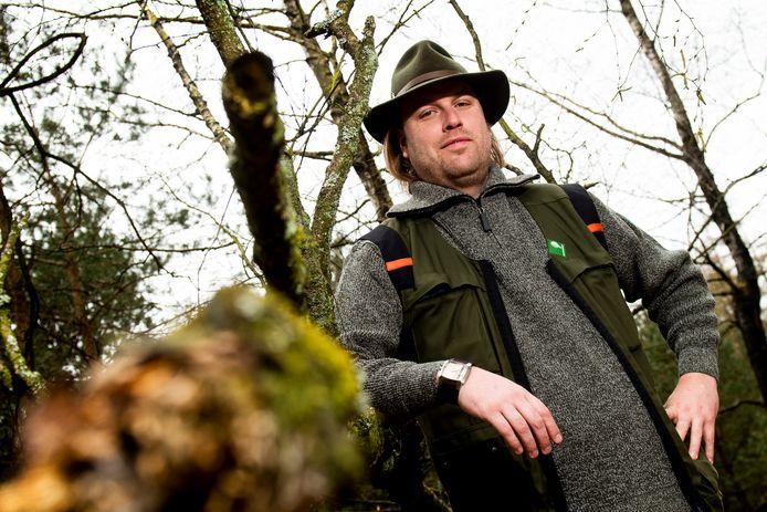 Boswachter Lennard Jasper: ,,Het is spannend of de Noord-Veluwe genoeg ruimte biedt voor nog een roedel.''