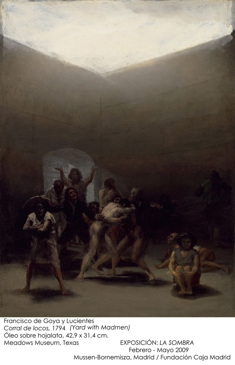 Francisco Goya, Binnenplaats met krankzinnigen, 1793. Beeld null