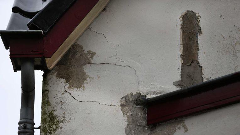 Schade aan een huis in Slochteren na een eerdere aardbeving. Beeld ANP
