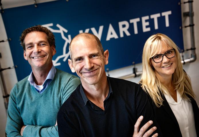 Tom van Doorne, Guillaume van Leest en Sylvia de Gunst (van links naar rechts) van Kvartett.