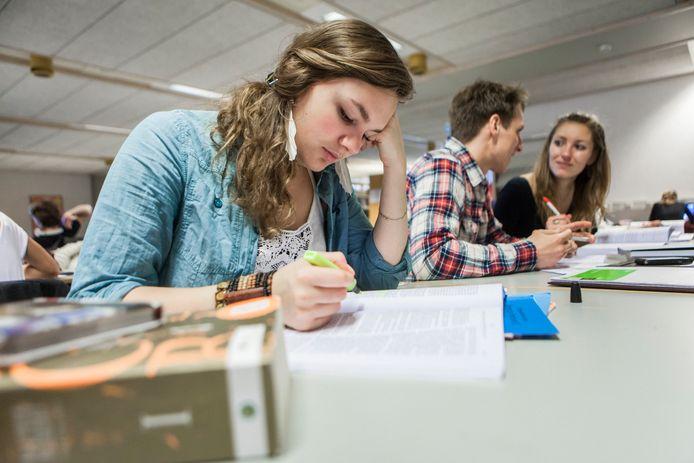 Foto ter illustratie. Studenten van de Rijksuniversiteit Groningen.