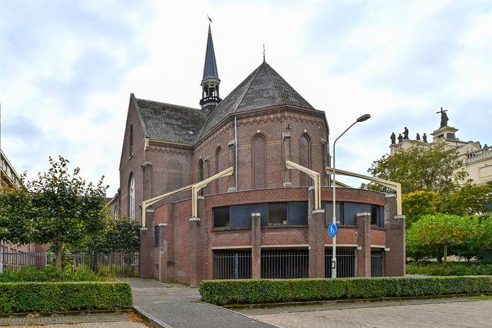 Achterkant van het Sint Annacomplex: de kapel.