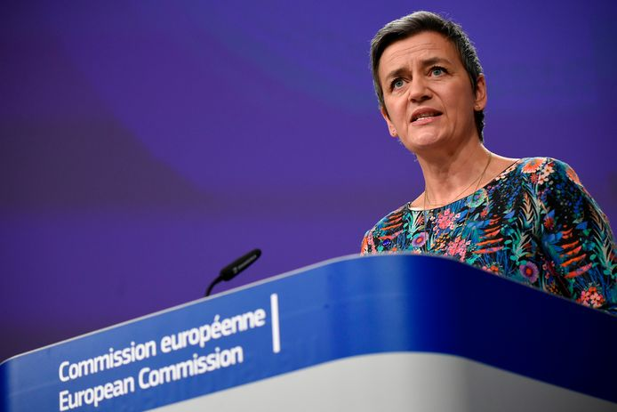 De Deense Margrethe Vestager, EU-commissaris voor Mededinging.