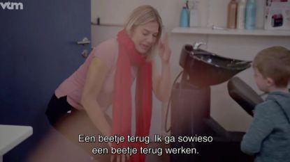 PREVIEW: Wat probeert Basile (6) in 'Dat Belooft Voor Later' te verstoppen voor Nathalie Meskens?