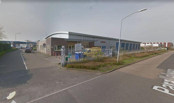 De ingang van de milieustraat in Rijen.