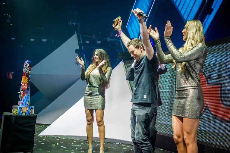 DJ Hardwell werd op ADE voor het tweede opvolgende jaar door DJ Mag gekozen tot nummer 1 dj van de wereld. Beeld ANP