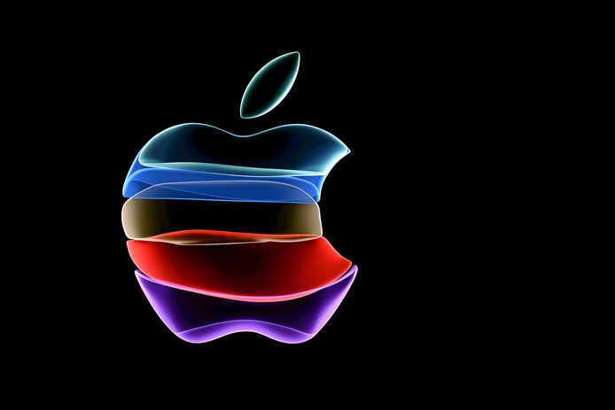 Apple-logo ter illustratie.