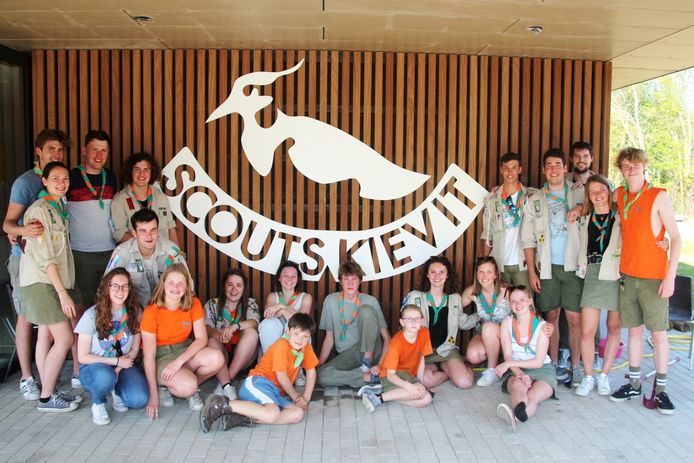 Archieffoto genomen bij de opening van de nieuwe scoutslokalen vorig jaar.