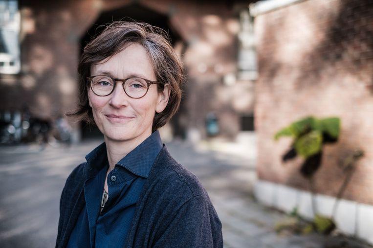 Vaccinologe Corinne Vandermeulen. Beeld ID/Bob Van Mol