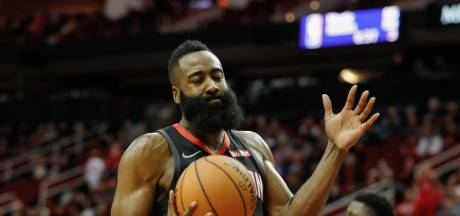 Harden loodst Rockets langs Pacers