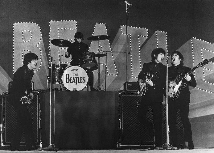 Paul McCartney, Ringo Starr, George Harrison en John Lennon