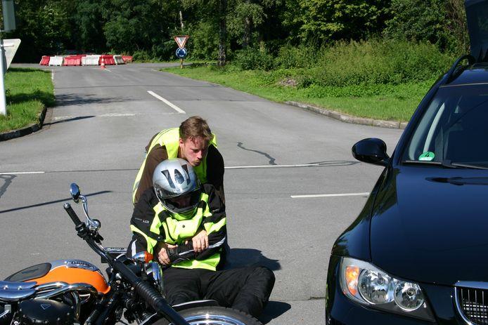 Motorrijders zijn bij ongevallen extreem kwetsbaar.
