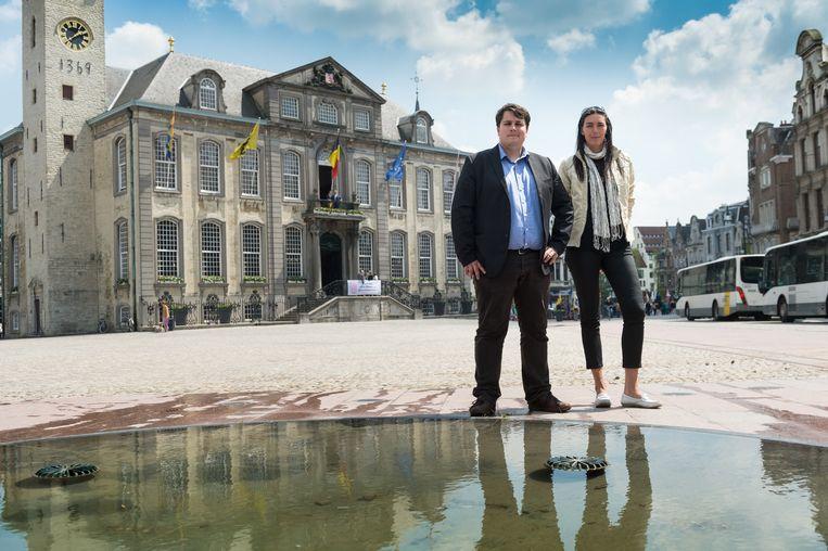 Schepen van Evenementen Rik Verwaest en organisatrice Kristel Van Loon van Lier Centraal op een archiefbeeld.