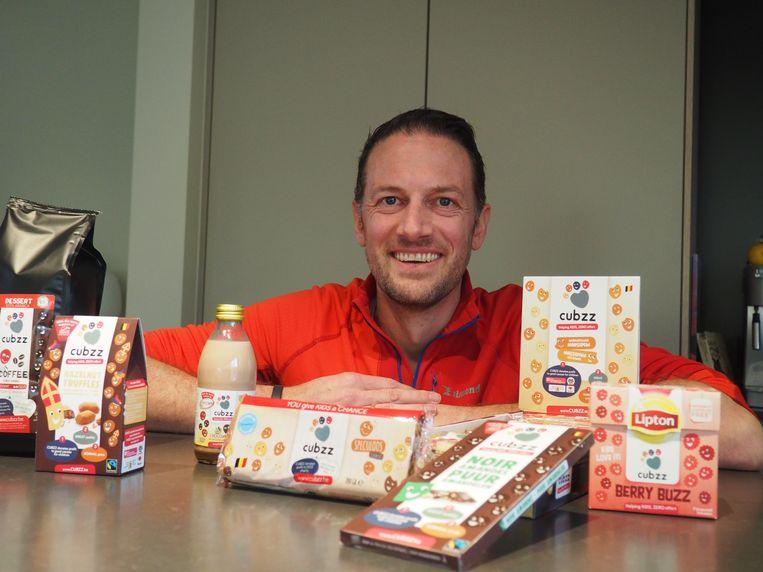 Wouter Cauwenbergh met een aantal CUBZZ-producten.