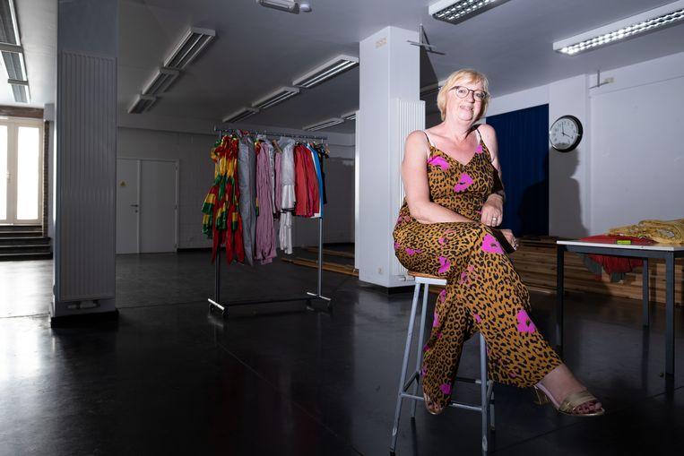 Karine De Keyzer verhuist met Dansparant van de Leopoldstraat naar de Tervuursesteenweg. Hier in de grote zaal beneden.