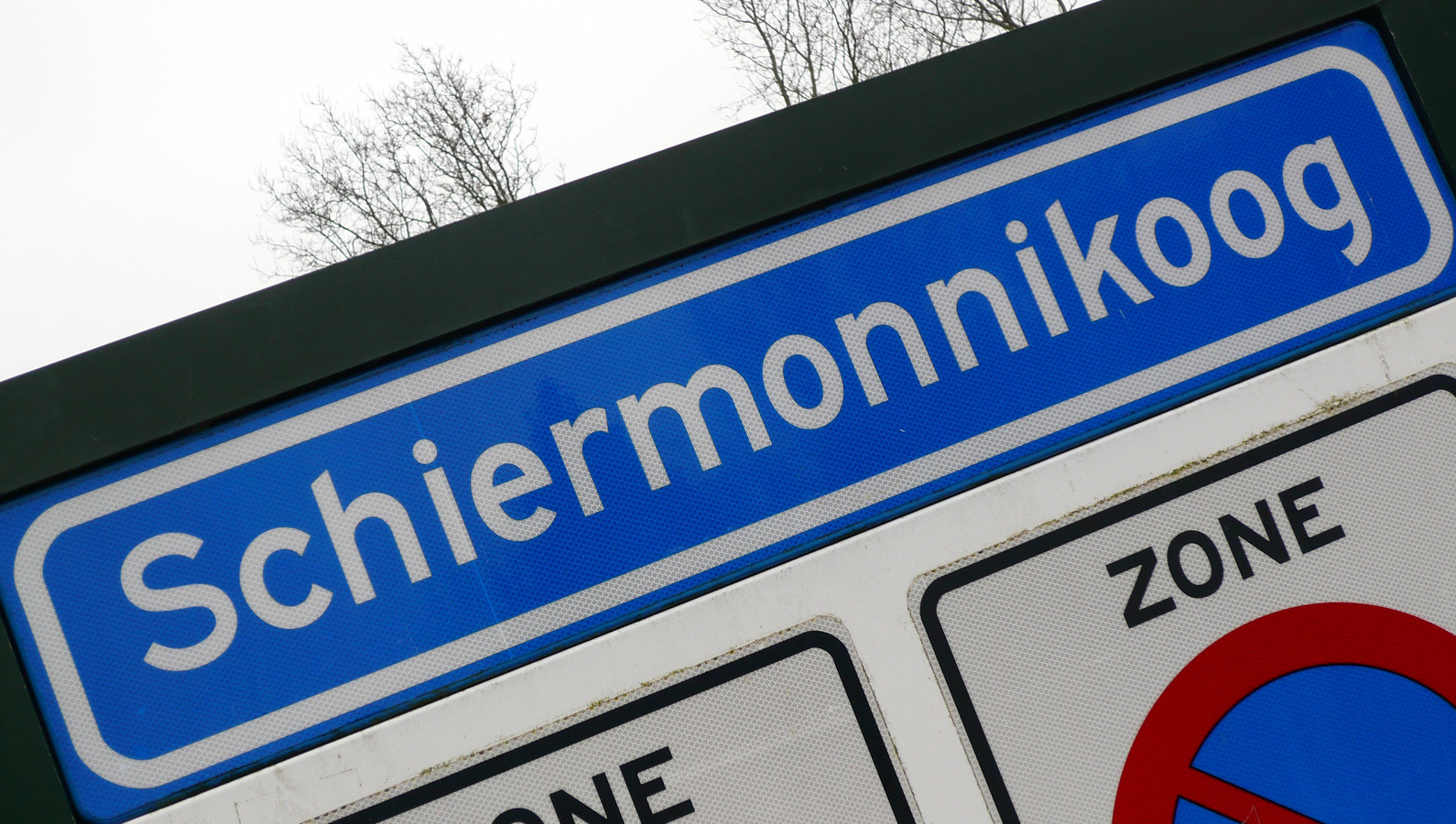 Het gemeentebord van Schiermonnikoog.