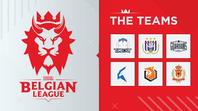 De teams van de Belgian League.