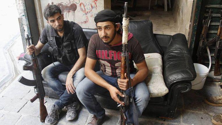 Leden van het Vrije Syrische Leger. Beeld reuters