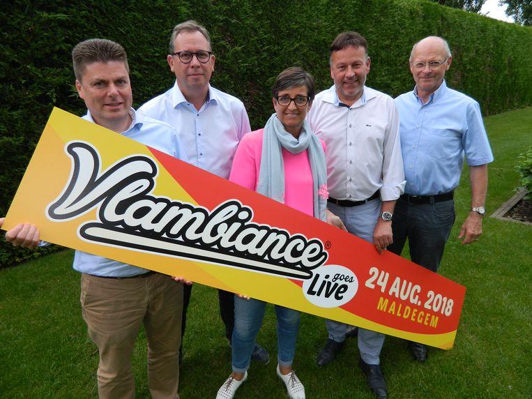 De werkgroep van Vlambiance Maldegem, net voor de editie van vorig jaar.