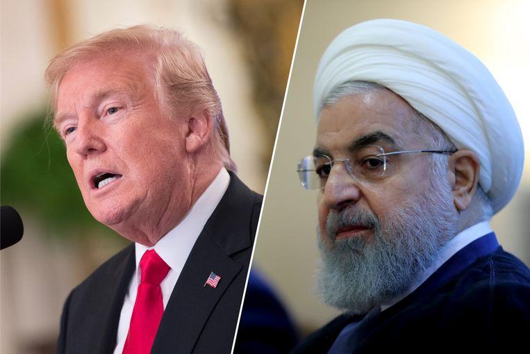 De Amerikaanse president Donald Trump is duidelijk tegenover zijn Iraanse evenknie Hassan Rouhani.