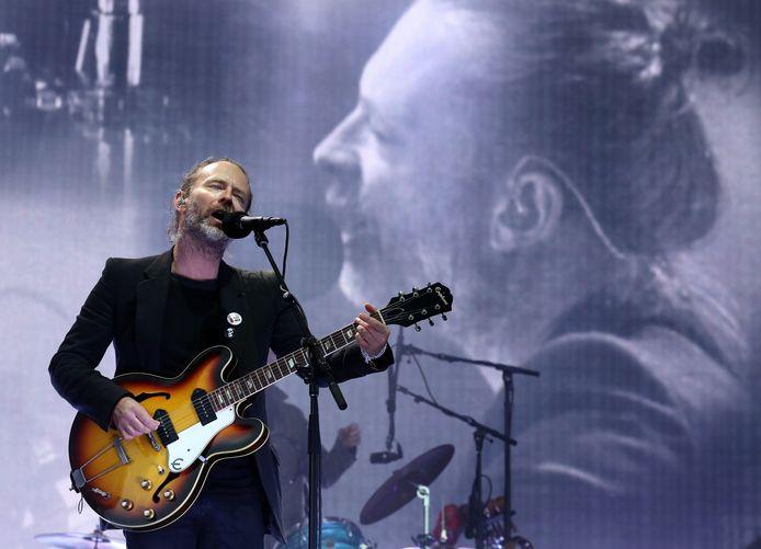 Thom Yorke, le chanteur du groupe Radiohead.