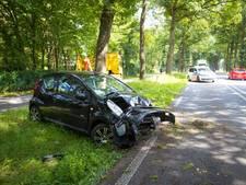 Auto raakt van de weg en belandt tegen boom bij Epe