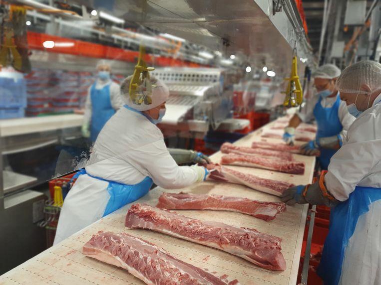 Een blik op de arbeidsomstandigheden bij de Duitse vleesverwerker Tönnies.