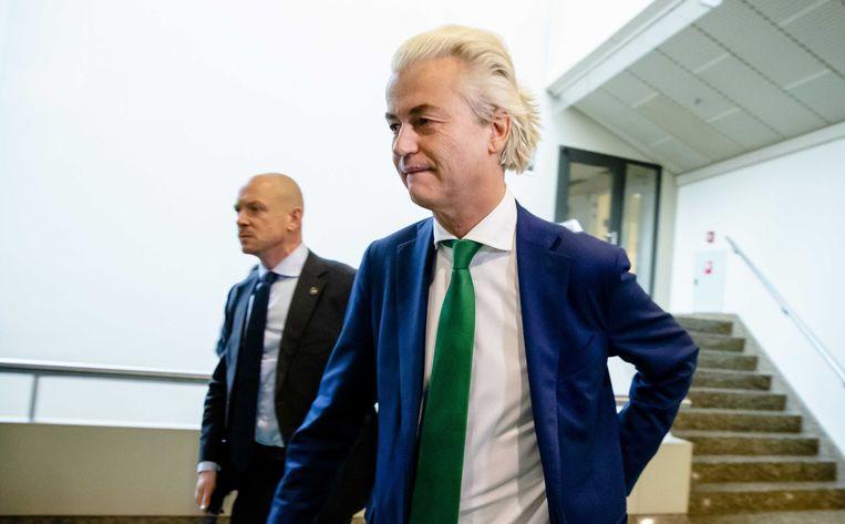 Geert Wilders (PVV) in de Tweede Kamer. Beeld ANP