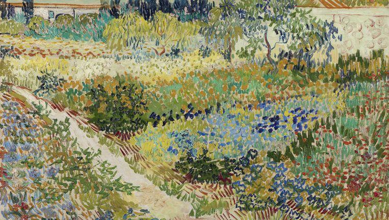 Tuin te Arles van Vincent van Gogh (1888) Beeld Gemeentemuseum Den Haag