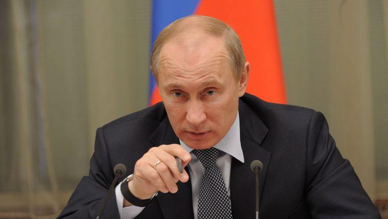 De Russische president Vladimir Poetin eist excuses van Nederland voor de behandeling van een Russische diplomaat door de politie in Nederland. Beeld EPA