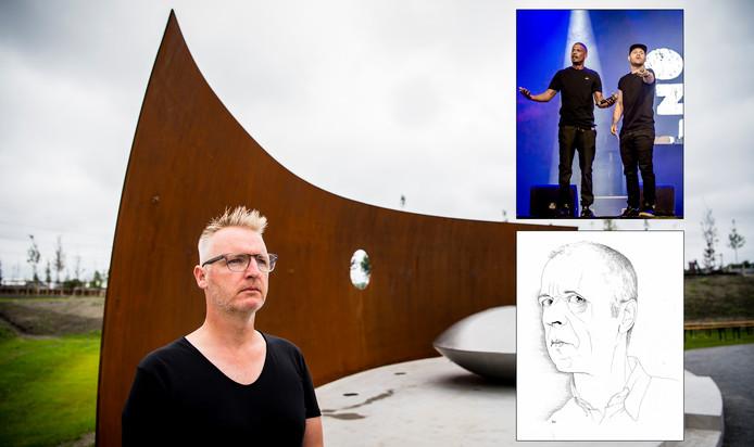 MH17 monument van Ronald A. Westerhuis, Rico en Sticks en een zelfportret van Siegfried Woldhek