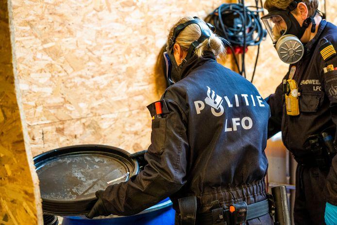 In het gevonden drugslab in Eersel kon methamfetamine worden gemaakt.