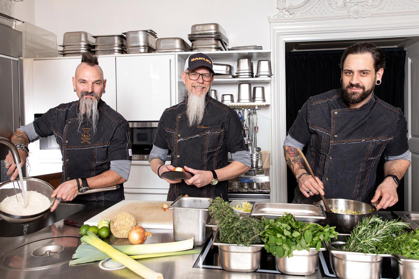 Het team van Puzo: rocking chefs