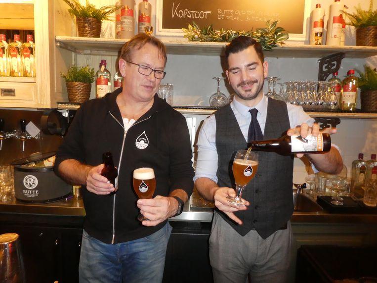 Fer Kok, eigenaar De Prael, en cocktailgigant Ben Lobos. Beeld Hans van der Beek