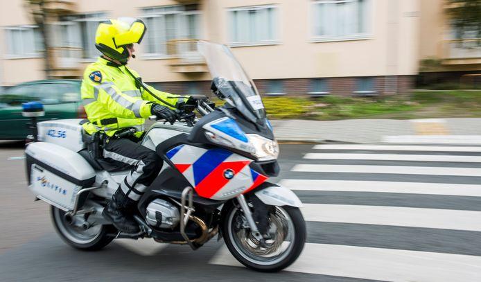 Een motoragent in actie. Foto ter illustratie.