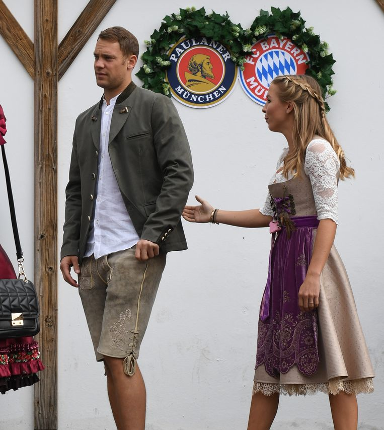 Manuel Neuer met vrouwlief Nina Weiss.