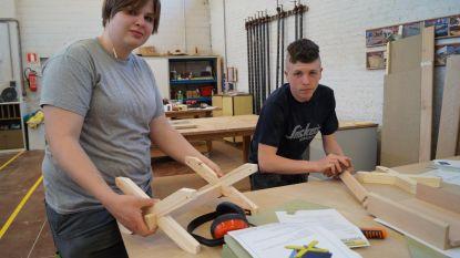 Leerlingen De Ster timmeren rekje voor Vlaamse Houtproef