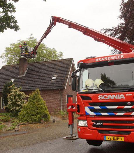 Bewoners schrikken van schoorsteenbrand in Drunen, hadden hem net schoongeveegd