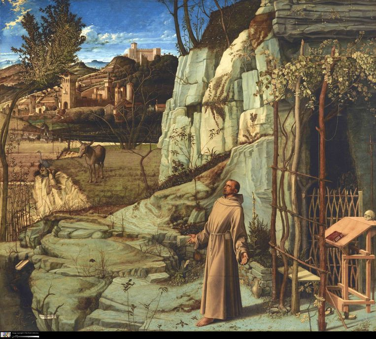 Giovanni Bellini, De stigmatisatie van Franciscus, ca. 1476-1478. Beeld null