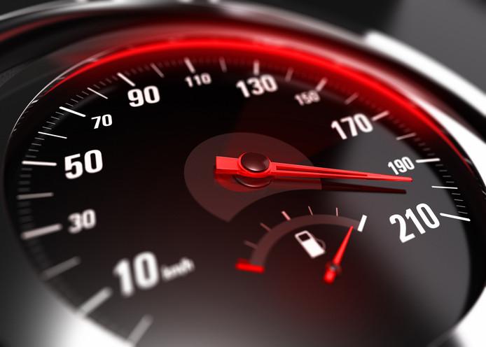 stockadr snelheid kilometerteller dashboard hardrijder hardrijden