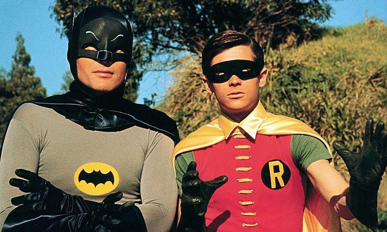 Adam West in de reeks 'Batman' uit 1966.