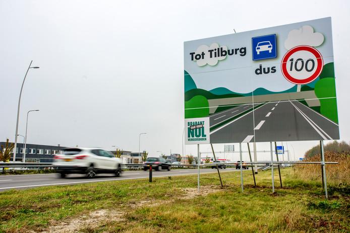 In Brabant vallen de meeste verkeersdoden. De provincie plaatste eerder al borden om automobilisten te wijzen op de maximaal toegestane snelheid.