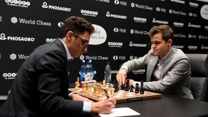 Carlsen en Caruana houden het in duel om wereldtitel voor 10de keer op remise