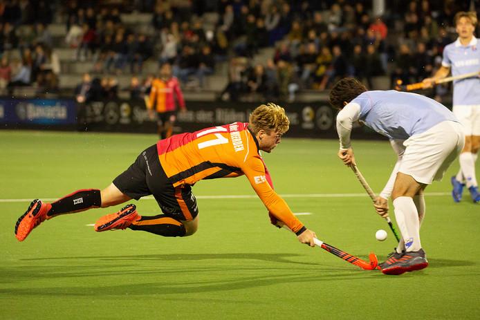 Mink van der Weerden in actie.
