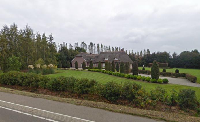 De villa in Wernhout.
