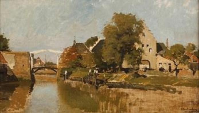 Gezicht op Zierikzee Johannes Christiaan Karel Klinkenberg.
