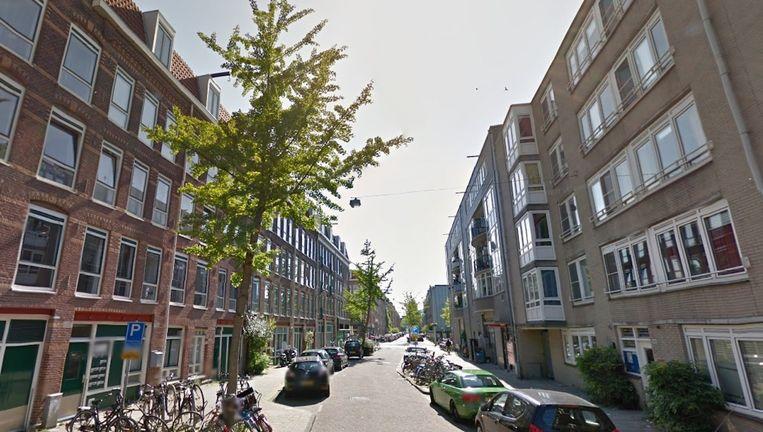 Het straatbeeld van de Borgerstraat in West waar het incident plaatsvond. Beeld Google Streetview