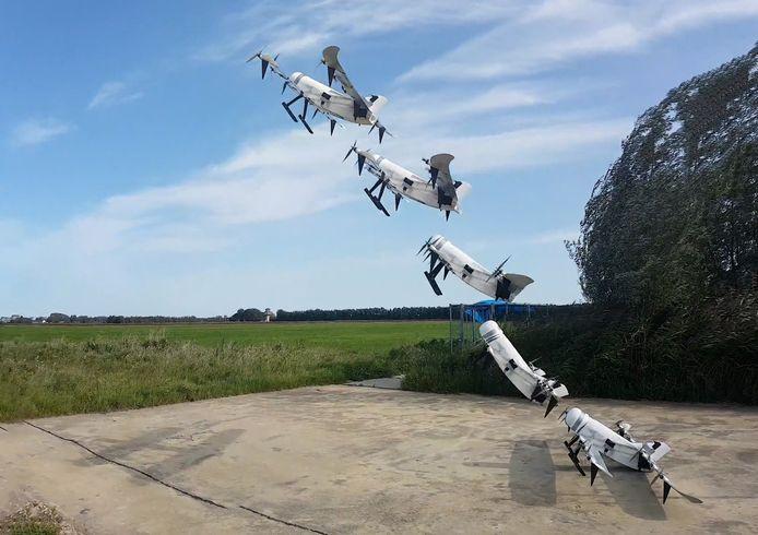 Delftse drone vliegt op waterstof en kan verticaal opstijgen.